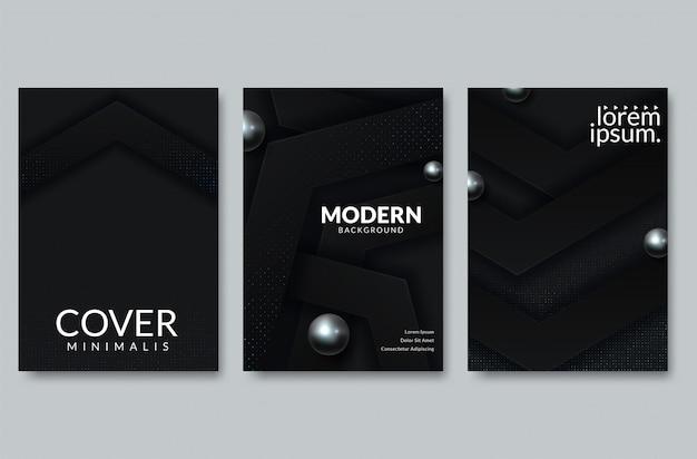 抽象的な紙カットのカバーデザイン。ベクトルクリエイティブイラスト