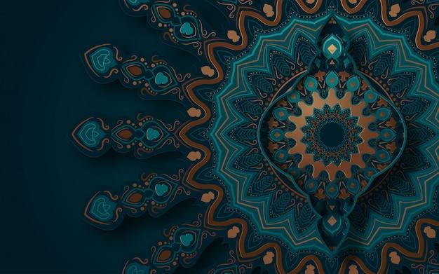 伝統的な飾りと抽象的な背景。