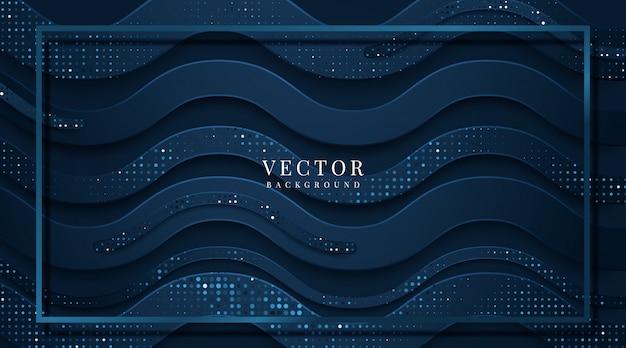 Абстрактный шаблон темно-синий роскошный премиум фон