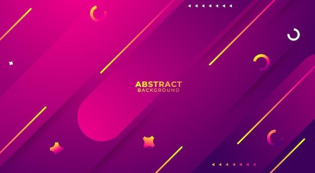 紫の抽象的な背景デザイン、グラデーション図形構成。ポスター、バナーの未来的なデザイン。