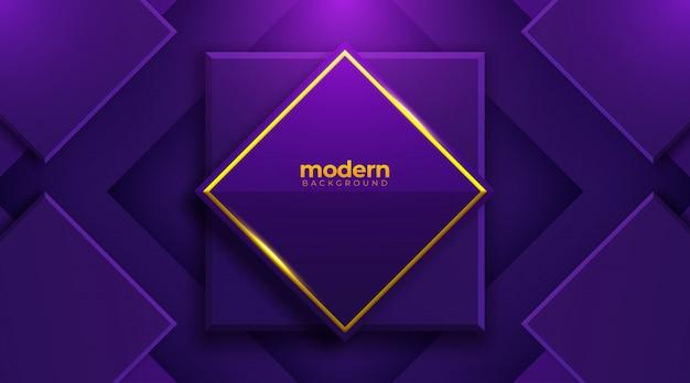 ネオンの光の効果を持つ未来的な創造的なデザインの紫色の背景。図