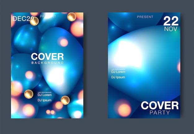 Плакат фестиваля электронной музыки с абстрактными линиями градиента. векторный шаблон дизайна для флаера, презентации, брошюры