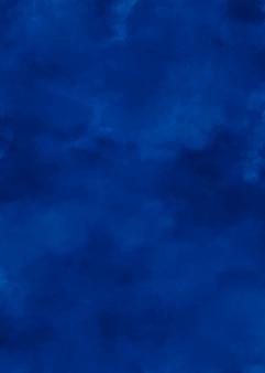 ミッドナイトブルーのエレガントな水彩画の背景