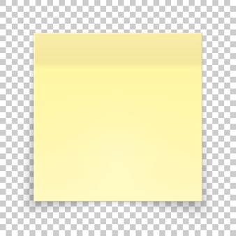 黄色い紙の粘着片、ステッカーメモ。