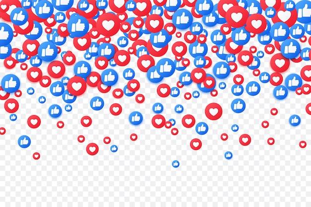 ソーシャルメディア。のように落ちて親指を立てる