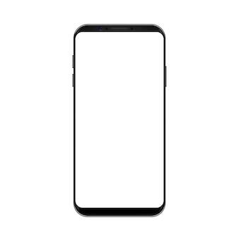 空の画面を持つスマートフォンコンセプトブラック色