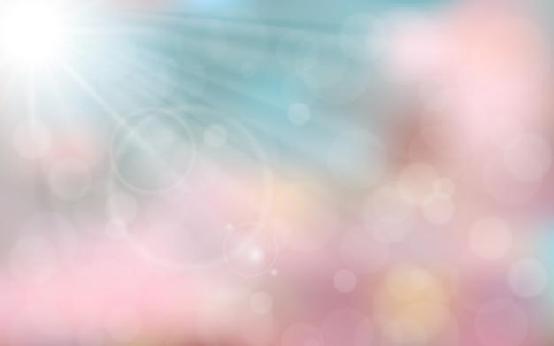 ピンクとブルーの春の背景