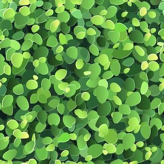 様式化された緑の葉とのシームレスな背景のベクトル