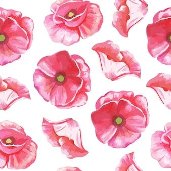 チューリップの花のシームレスパターン