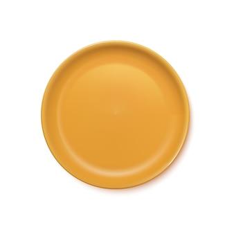 黄色のリアルなプレート