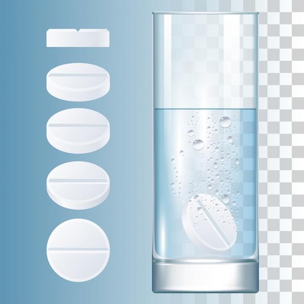 丸薬とガラス