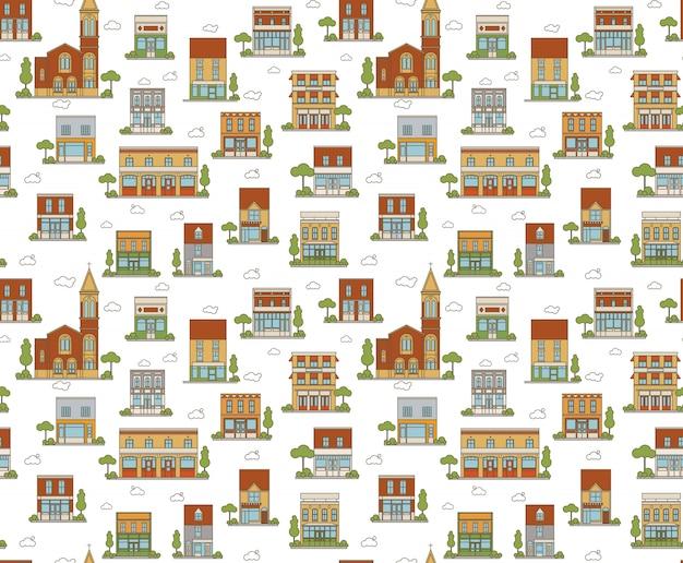 都市のシームレスパターン