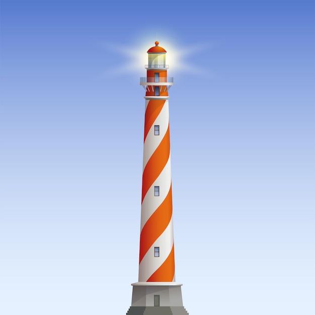 Старый маяк иллюстрация