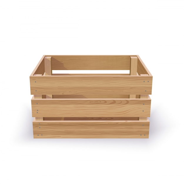 Пустой деревянный ящик