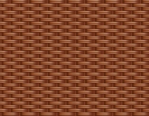 枝編み細工品の籐の背景