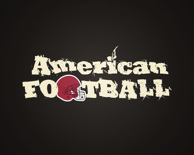 アメリカンフットボールのロゴデザインテンプレート