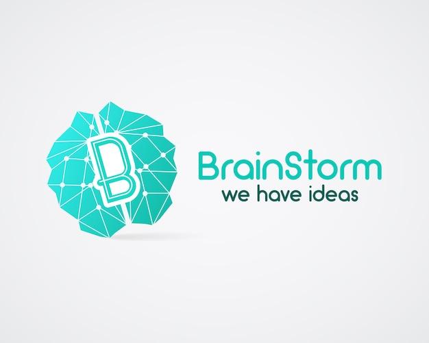 Шаблон логотипа мозговой штурм