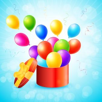 パーティーやお祝いの招待状ベクトル