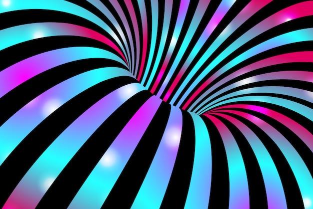 カラフルな抽象的な波状の縞模様の背景。