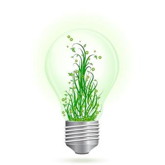 Зеленая энергетическая лампочка