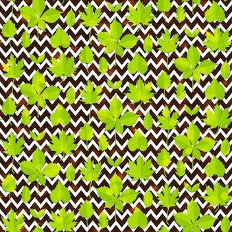 緑の葉のシームレスなパターン背景