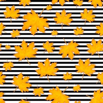 秋の葉のシームレスなパターン背景