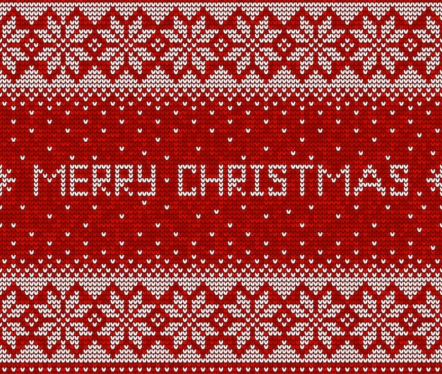 Красно-белый рождественский узор