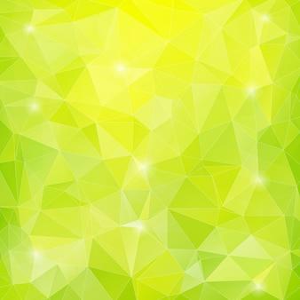 Зеленый многоугольный фон