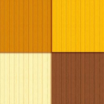 シームレスなパターンを持つ木製の板のセット