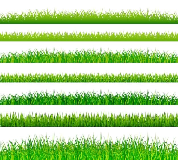Границы зеленой травы установлены