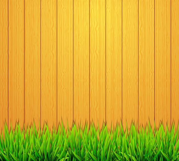 庭のフェンスの背景