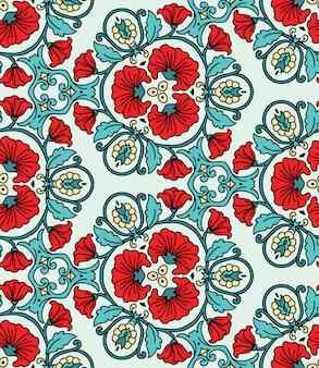 幾何学的な抽象的なベクトルのシームレスなパターン。万華鏡