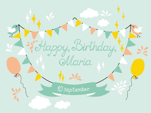 お誕生日おめでとうカードデザイン