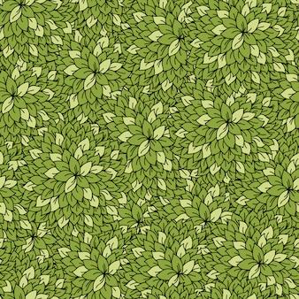 抽象的な葉のシームレスな背景。
