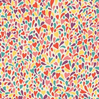 カラフルな花火とシームレスなパターンをベクトル。抽象的な背景