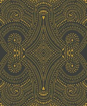 抽象的なシームレスパターンを落書き