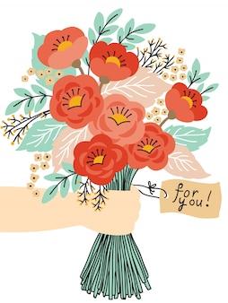 美しい花の花束