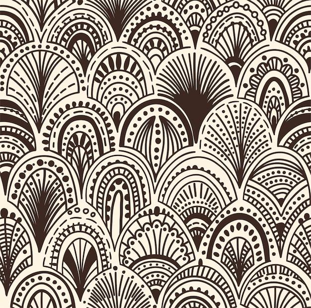 シームレスな抽象的な波のパターン