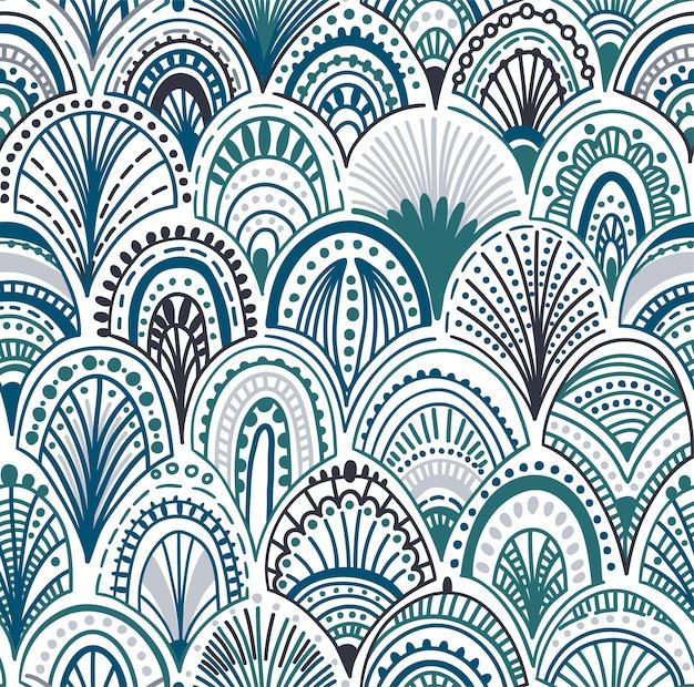 抽象的な波のシームレスパターン
