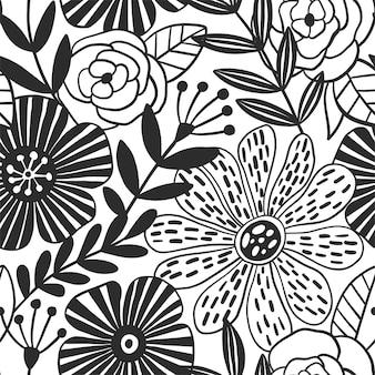 Абстрактная элегантность бесшовные модели с цветочным фоном