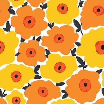 Бесшовный цветочный узор цветочная текстура