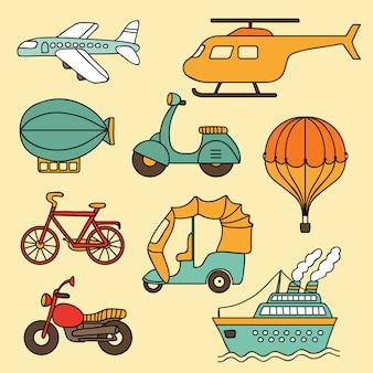 Векторная коллекция транспорта
