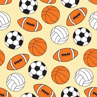 スポーツボールのシームレスパターン