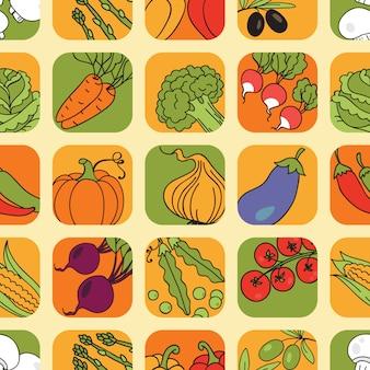 Набор бесшовных овощей
