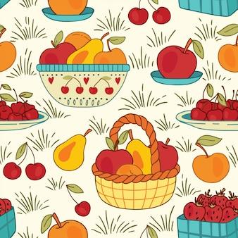 フルーツと夏のバスケット