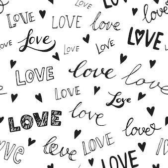 ハート柄、シームレスな背景のベクトル。結婚式の招待状、バレンタインデーのカード、愛に関するカードに使用できます。