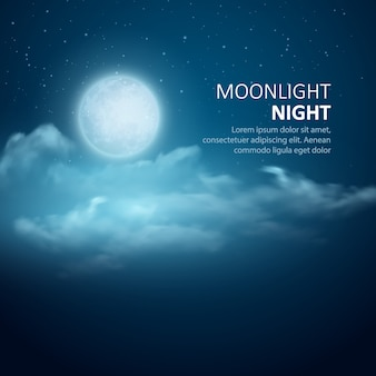 Ночное небо абстрактный фон