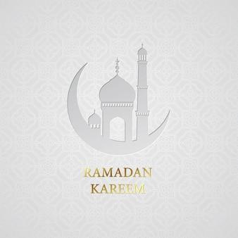 ラマダンのご挨拶の背景。ラマダンカリーム