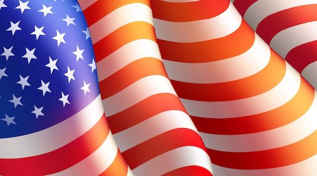День независимости четвертого июля с американским флагом. иллюстрация