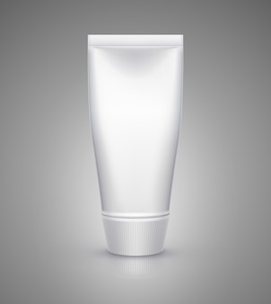 クリーム、歯磨き粉、ジェル、ソース、塗料、接着剤用の白いチューブのモックアップ。